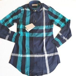 NEW BURBERRY LONDON WOMEN CASUAL BUTTON DOWN SHIRT